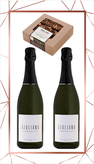 Giuliana Prosecco and Chocolate Biscotti Set